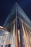 Torre 3 del World Trade Center della Cina alla notte, Pechino, Cina Fotografia Stock Libera da Diritti