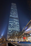Torre 3 del World Trade Center en la noche, Pekín, China Foto de archivo