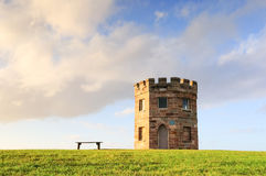 Torre del XIX secolo della dogana di Perouse della La sul tramonto Fotografie Stock