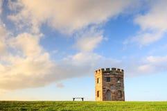 Torre del XIX secolo della dogana di Perouse della La sul tramonto Immagini Stock