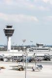 Torre dell'aeroporto di Monaco di Baviera Fotografie Stock