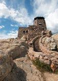 Torre dell'allerta del fuoco del picco di Harney in Custer State Park nel Black Hills del Sud Dakota Fotografia Stock