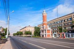 Torre dell'allerta del fuoco, Omsk Fotografie Stock