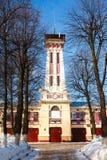 Torre dell'allerta del fuoco in Russia Immagini Stock Libere da Diritti