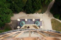 Torre dell'allerta del minareto dalla cima nell'area di Lednice Valtice, Moravia Fotografia Stock