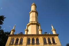 Torre dell'allerta del minareto di Lednice nell'area di Lednice Valtice, repubblica Ceca Fotografie Stock Libere da Diritti
