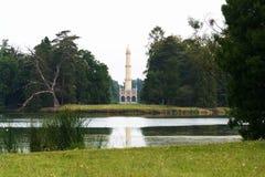 Torre dell'allerta del minareto di Lednice nell'area di Lednice Valtice, repubblica Ceca Fotografie Stock