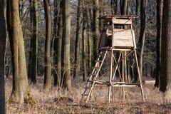 Alto sedile di caccia Fotografia Stock Libera da Diritti