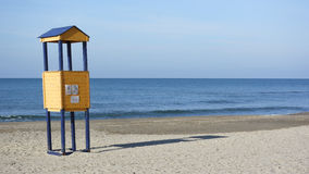 Torre dell'allerta della spiaggia Fotografia Stock Libera da Diritti