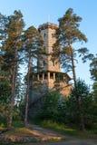 Torre dell'allerta di Aulanko in Finlandia Fotografie Stock Libere da Diritti