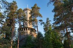 Torre dell'allerta di Aulanko in Finlandia Immagine Stock Libera da Diritti