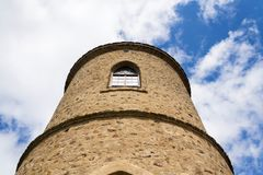 Torre dell'allerta di Josefs al supporto Klet, foresta di Blansky, repubblica Ceca Fotografia Stock