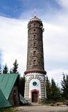 Torre dell'allerta, montagna Jeseniky, repubblica Ceca, Europa Immagini Stock