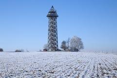Torre dell'allerta nell'inverno Fotografia Stock