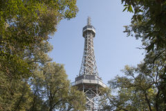Torre dell'allerta, parco della collina di Petrin, Praga Immagini Stock