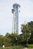 Torre dell'allerta, scultura di neve volante Fotografia Stock Libera da Diritti
