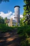 Torre dell'allerta sulla cima della montagna Fotografia Stock