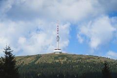 Torre dell'allerta sulla collina Fotografie Stock Libere da Diritti