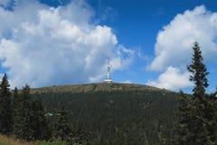 Torre dell'allerta sulla collina Immagini Stock Libere da Diritti