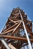 Torre dell'allerta sulla collina infernale del ` del kopec di Pekelny del ` vicino alla città Trebic Fotografia Stock