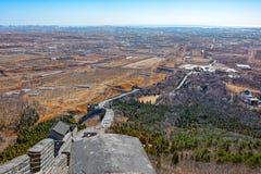Torre dell'allerta sulla grande parete della Cina Immagine Stock