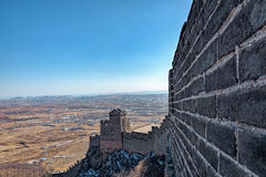 Torre dell'allerta sulla grande parete della Cina Fotografia Stock