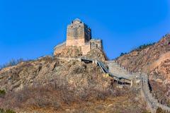 Torre dell'allerta sulla grande parete della Cina Fotografie Stock