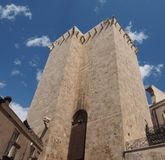 Elephant tower in Cagliari. Torre dell Elefante (meaning Tower of the Elephant) in Cagliari, Italy stock images