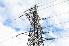 Torre dell'elettrodotto elettrico Fotografie Stock Libere da Diritti