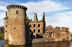 Torre dell'interruttore, castello di Caerlaverock Fotografie Stock Libere da Diritti