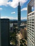 Torre 101 dell'orizzonte di Taipei fotografie stock libere da diritti