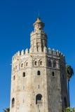 Torre dell'oro in Siviglia, Spagna del sud Fotografia Stock