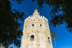 Torre dell'oro in Siviglia, Spagna del sud Immagine Stock Libera da Diritti
