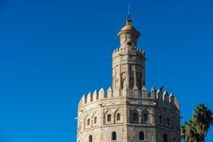 Torre dell'oro in Siviglia, Spagna del sud Immagini Stock