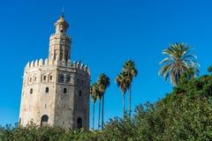 Torre dell'oro in Siviglia, Spagna del sud Immagine Stock