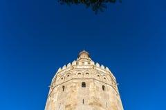 Torre dell'oro in Siviglia, Spagna del sud Fotografia Stock Libera da Diritti