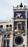 The Torre dell'Orologio. On St Mark's Square in Venice, Italy Royalty Free Stock Photography