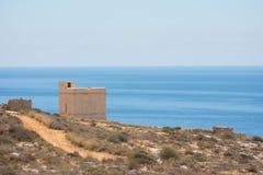 Torre dell'orologio dal mare Fotografia Stock Libera da Diritti