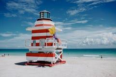 Torre dell'orologio del bagnino di Miami Immagini Stock