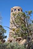 Torre dell'orologio del deserto sopra Grand Canyon Fotografia Stock Libera da Diritti