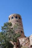 Torre dell'orologio del deserto sopra Grand Canyon Fotografia Stock