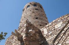 Torre dell'orologio del deserto sopra Grand Canyon Immagini Stock Libere da Diritti