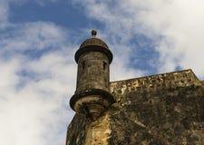 Torre dell'orologio della sentinella a vecchio San Juan Fotografia Stock Libera da Diritti