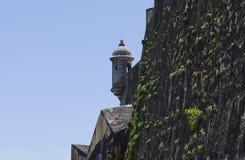 Torre dell'orologio di Puerto Rico Historic Fortification Immagine Stock