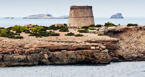 Torre dell'orologio a Ibiza Immagine Stock Libera da Diritti
