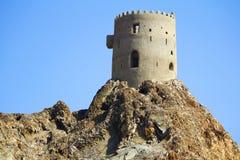 Torre dell'orologio nell'Oman antico Immagini Stock