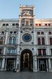 Torre dell ` Orologio przy piazza San Marco Zdjęcie Stock