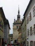 Torre dell'orologio - Sighisoara, Romania Immagine Stock Libera da Diritti