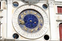 Torre dell'Orologio Venedig Royaltyfri Bild