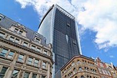 Torre dell'ufficio in costruzione alla via di 20 Fenchurch Fotografie Stock Libere da Diritti